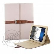Capa Smart Cover Dobrável com Alça e Fivela para Apple iPad - Cor Rosa