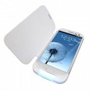Bateria externa 5000mAh com flip cover para Galaxy S3 I9300 - Cor Branca