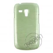 Capa Rígida com Efeito Escovado para Samsung Galaxy S III Mini I8190 - Cor Verde 2