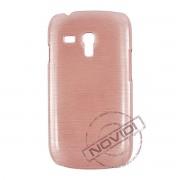 Capa Rígida com Efeito Escovado para Samsung Galaxy S III Mini I8190 - Cor Cobre