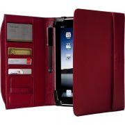 capa Estojo em Couro Sintético Zierra Targus para iPad - Cor Vermelha