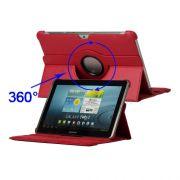 Capa com suporte 360º Rotating Stand para Samsung Galaxy Tab 2 10.1 P5110 /P5100 - Cor Vermelha