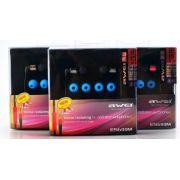 Fones de Ouvido AWEI Noise ES-600M Isolando Hi-Definition - Preto