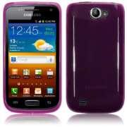 Capa TPU Premium para Samsung Galaxy W GT-I8150 - Cor lilás