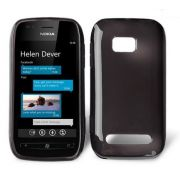 Capa TPU FlexiShield para Nokia Lumia 710 - Cor Grafite