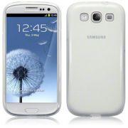 FlexiShield Plus - Capa de TPU Premium + Película Protetora para Samsung Galaxy S III S3 i9300 - Cor Transparente