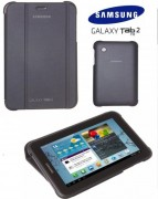 Capa estojo em couro para Samsung Galaxy Tab 2 7.0 P3100 / P3110 - Samsung EFC-1G5SGECSTD - Cor Preta Titanium
