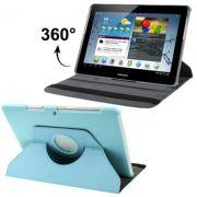 Capa em couro para Samsung Galaxy Tab 2 10.1 P5110 /P5100 com suporte 360º Rotating Stand Case - Cor Azul