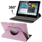 Capa em couro para Samsung Galaxy Tab 2 10.1 P5110 /P5100 com suporte 360º Rotating Stand Case - Cor Rosa claro