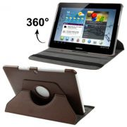 Capa em couro para Samsung Galaxy Tab 2 10.1 P5110 /P5100 com suporte 360º Rotating Stand Case - Cor Marron