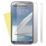 Kit com 2 Películas transparente lisa protetor de tela para Samsung Galaxy Note II GT-N7100
