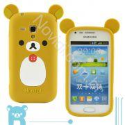 Capa design Rilakkuma com Orelha para Samsung Galaxy S Duos S7562