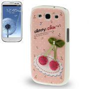 Capa Personalizada Estilo Cereja para Samsung Galaxy S3 S III i9300
