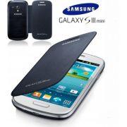 Capa em couro flip para Samsung Galaxy S III Mini I8190 - EFC-1M7FBEC -  Cor Azul Marinho