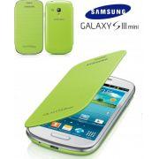 Capa em couro flip para Samsung Galaxy S III Mini I8190 - EFC-1M7FMEC - Cor Verde