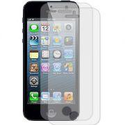 Kit com 2 Películas transparente lisa protetor de tela para iPhone 5