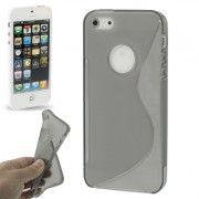 Capa de TPU S-Line Premium para Apple iPhone 5 - Cor Grafite