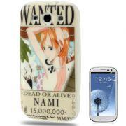 Capa Personalizada Wanted Nami  para Samsung Galaxy S3 S III i9300