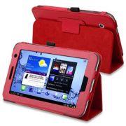 Capa Smart Cover dobravél para Samsung Galaxy Tab 2 7.0 P3100 / P3110 - Cor Vermelha