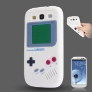 Capa design Retro Gameboy para Samsung Galaxy S3 S III i9300 - Branco