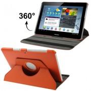 Capa em couro para Samsung Galaxy Tab 2 10.1 P5110 /P5100 com suporte 360º Rotating Stand Case - Cor Vermelha