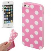 Capa Personalizada Bolinhas para Apple iPhone 5 - Rosa