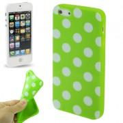 Capa Personalizada Bolinhas para Apple iPhone 5 - Verde