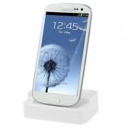 Dock carregador de bateria para Samsung Galaxy S III i9300 - Cor Branco