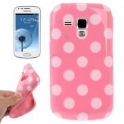 Capa fashion design Bolinhas para Samsung Galaxy S Duos S7562 - Rosa