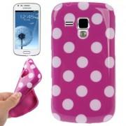 Capa fashion design Bolinhas para Samsung Galaxy S Duos S7562 - Roxa