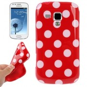 Capa fashion design Bolinhas para Samsung Galaxy S Duos S7562 - Vermelha