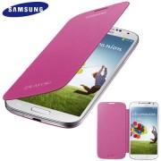 Capa Flip Cover Galaxy S4 - Original Samsung - Cor Rosa - Novidi.com.br