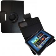 Capa em couro para Samsung Galaxy Note 10.1 N8000 com suporte 360º - Cor Preta