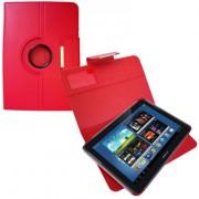 Capa em couro para Samsung Galaxy Note 10.1 N8000 com suporte 360º - Cor Vermelha