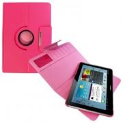 Capa em couro para Samsung Galaxy Tab 2 10.1 P5110 /P5100 com suporte 360º - Cor Rosa
