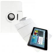Capa em couro para Samsung Galaxy Tab 2 10.1 P5110 /P5100 com suporte 360º - Cor Branca