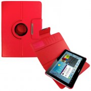 Capa em couro para Samsung Galaxy Tab 2 10.1 P5110 /P5100 com suporte 360º - Cor Vermelha