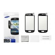 kit 2 Películas Protetora Galaxy S III Mini I8190 - Original Samsung - Bordas Preta