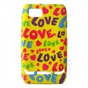 Capa Personalizada Love Fundo Amarelo Nokia Lumia 520
