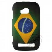 Capa Personalizada Bandeira Envelhecida Brasil para Nokia Lumia 710