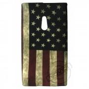 Capa Personalizada Bandeira Envelhecida USA para Nokia Lumia 800