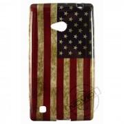 Capa Personalizada Bandeira Envelhecida USA para Nokia Lumia 720