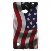 Capa Personalizada Bandeira Americana para Nokia Lumia 720