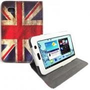 Capa para tablet personalizada Bandeira UK giratoria Samsung Galaxy Tab 2 7.0 P3100 / P3110