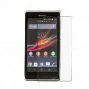 Kit com 2 Películas transparente lisa protetor de tela para Sony Xperia L