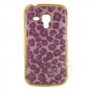 Capa Luxo Fashion Oncinha para Samsung Galaxy S Duos S7562 - Cor Rosa