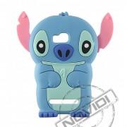 Capa Desenho Animado Stitch 3D para Nokia Lumia 710 - Cor Azul