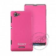 Capa Flip Cover para Sony Xperia L – Cor Rosa