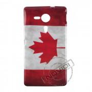 Capa Personalizada Bandeira Envelhecida Canadá para Sony Xperia ZQ