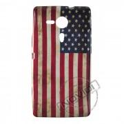 Capa Personalizada Bandeira Envelhecida USA para Sony Xperia ZQ